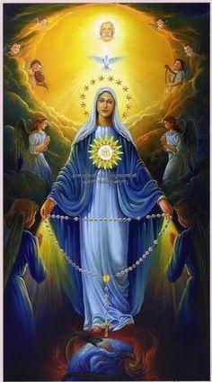 Maria es Reina del Santisimo Rosario