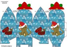 A Lovely Square Box with a Poinsettia Flower on the top to close the top of the box with  This single sheet box is great for all kinds of gifts or could even be used at the Christmas Dinner table in place of the traditional Bon bon placing small trinkets inside would please everyone and be unique.  Print and go easy to assemble.  For best results print onto 250gsm card.