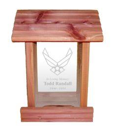 Urns Northwest  - Air Force Military Memorial Bird Feeder, $34.95 (http://urnsnw.com/air-force-military-memorial-bird-feeder/)