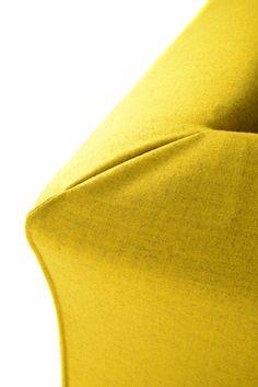 Sectional fabric sofa THEA by MDF Italia | design Lina Obregon, Carolina Galan #yellow #design #sofa