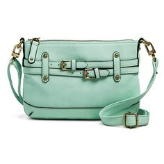 Merona® Timeless Collection Crossbody Handbag with Removable Strap from Target (in Mint) $22.99