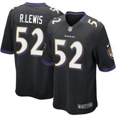 955014d7c9 Mens Baltimore Ravens Ray Lewis Nike Black Alternate Game Jersey Baltimore  Ravens Game