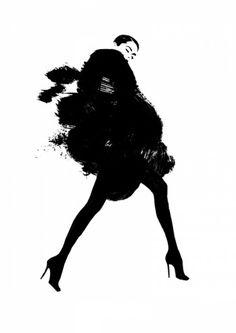 Fashion illustration - stylish black & white fashion drawing // Judith van den Hoek