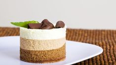 chocolate mousse cake image with a copy space Chocolate Mousse Cake, Chocolate Treats, White Chocolate, Delicious Desserts, Dessert Recipes, Yummy Food, Minis, Mini Cheesecakes, Mini Cakes