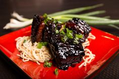 My red braised Shanghai style pork belly glistening with deliciousness from the slow braise in aromatic stock and two types of soy sauce Pork Belly, Soy Sauce, Shanghai, Steak, Ethnic Recipes, Kitchen, Red, Cooking, Kitchens