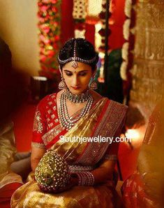 Bride Neha's Wedding Reception Jewellery South Indian Bride Jewellery, Silver Jewellery Indian, Indian Jewellery Design, Jewelry Design, Jewellery Photo, Bridal Jewellery, Urban Jewelry, Gold Jewelry, Diamond Jewellery
