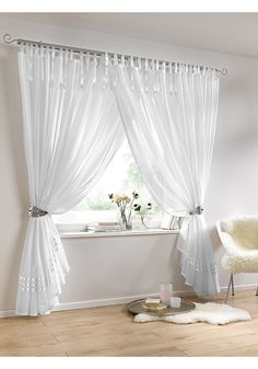 28413,35080,59002,86566 Living Room Decor Curtains, Diy Curtains, Curtains With Blinds, Bedroom Decor, Home Interior Design, Interior Decorating, Rideaux Design, Heine Home, Layered Curtains