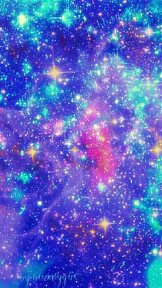 Blue Sparkle Galaxy Wallpaper I Made For The App CocoPPa
