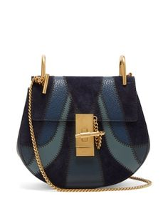 Click here to buy Chloé Drew mini leather and suede cross-body bag at MATCHESFASHION.COM