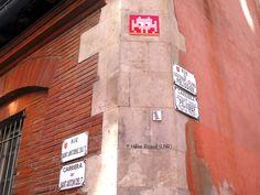 Space Invader TL_07 (Artiste : #Invader)_Toulouse (Haute-Garonne, France)_Angle Rue St Antoine du T et Rue du Lieutenant Colonel Pélissier_2016-10-21. © Hélène Ricaud (LNR)