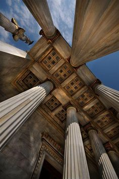"""Greece; """"Under the entrance of the Athens Academy - Chris Panagiotidis"""" researched by Nefeli Aggellou"""