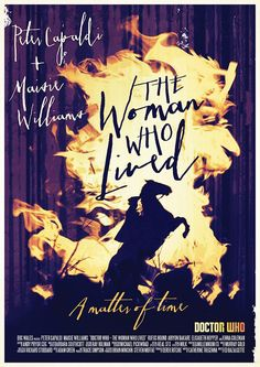 Poster by Stuart Manning for Doctor Who Season 9 Episode 6 The Woman Who Lived for the two parter The Girl who Died/The Woman who Lived Doctor Who Season 9, Doctor Who Series 9, Doctor Who Fan Art, Bbc Doctor Who, 12th Doctor, Dr Who, Stuart Manning, Doctor Who Poster, Steven Moffat