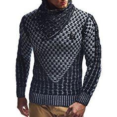 LEIF NELSON Men s Knitted Pullover Sweater LN5255 Propínací Svetry 715dd6891c