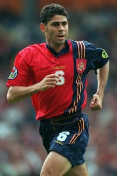 Fernando Hierro Pictures and Photos Euro 96, Stock Pictures, Stock Photos, Football Photos, Royalty Free Photos, Finals, Spain, England, Heroes