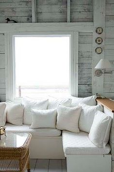 Window box seating perfect in this #cottage