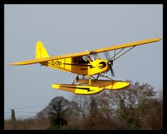 Piper Cub on floats....what I got my sea plane rating in at Jack Brown's Winter Haven, Florida
