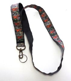 Camo Ribbon Lanyard ID Holder hunters by GabbysQuiltsNSupply