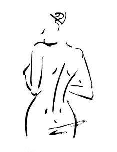 Customizeable Original Nude Drawing Drawn From by FormElation