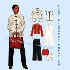 438 New Look 6435 Womens Oriental Style Top by ladydiamond46