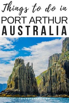 Things to do in Port Arthur and Tasman Peninsula. An hour's drive south east of Hobart airport, the wild and windswept Tasman Peninsula, best known for the World Heritage-listed historic site at Port Arthur, is undergoing a quiet revolution. #australia #tasmania #portarthur #dogline #dootown #oyster #cruise #farm #devilunzoo #peninsula
