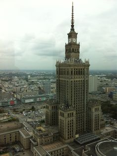 Courtesy of view from the InterContinental Warsaw Travel Around The World, Around The Worlds, Holiday Pictures, Warsaw, Cool Places To Visit, Empire State Building, Big Ben, Ukraine, Poland