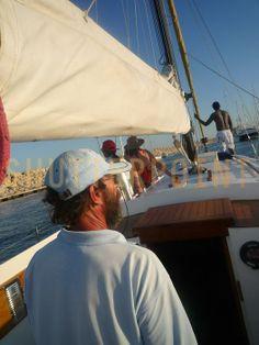 Sailing the Mediterranean - Stock Photo