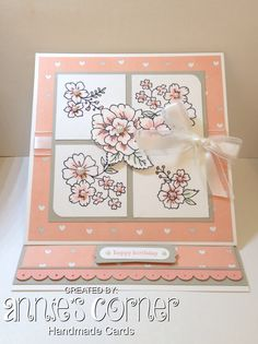 Stampin Up, I like You Hostess set, Lullaby DSP, Easel Card, Annie's Corner