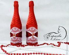 бутылки украшенные кружевом и лентой - Поиск в Google
