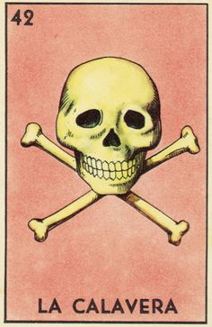 La Calavera Card, from Mexican Bingo... which we played last night, tons of fun & great way to teach kids Spanish!