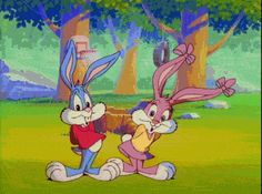 babs and buster bunny from tiny toon adventures