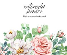 Watercolor Border, Watercolor Flowers, Bible Verse Canvas, Free Advertising, Print Templates, Digital Illustration, Party Invitations, Banner, Greeting Cards