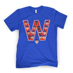 The RED W - Blue tee   Barstool Sports