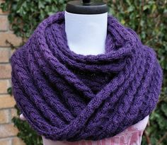 Ravelry: Shelter Infinity Scarf pattern by Anniken Allis pretty free pattern Cowl Scarf, Knit Cowl, Knitted Shawls, Crochet Scarves, Knitting Scarves, Cable Knit, Infinity Scarf Knitting Pattern, Knitting Patterns Free, Scarf Patterns