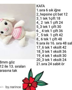 narince ( _ @ ince n Bewegt den Bildschirm nach links . Crochet Crafts, Crochet Dolls, Crochet Baby, Amigurumi Doll, Amigurumi Patterns, Easy Crochet Shrug, Crochet Doily Patterns, Button Crafts, Crochet Basics