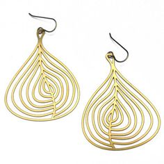 Fig Earrings Gold Plated now featured on Fab.