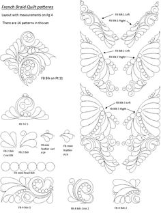 computerized quilting patterns for a french braid quilt