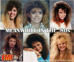 Oh, the late 80's hair.... I so wish I had the hair that could do that!!!!