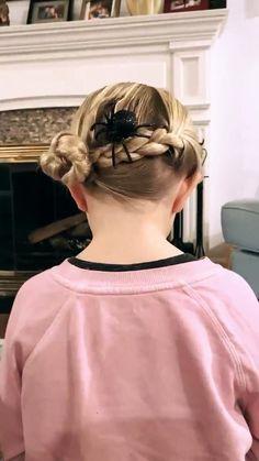 Baby Girl Hairstyles, Easy Hairstyles For Long Hair, Cute Hairstyles, Braided Hairstyles, Little Girl Hairdos, Girl Hair Dos, Halloween Hairstyle, Toddler Hair, Hair Videos