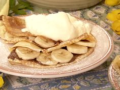 Chocolate-Banana Filled Crepes recipe from Paula Deen via Food Network