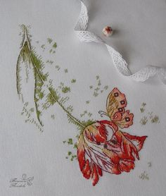 So simple, but the colours and beautiful stitchery make it. Cross Stitching, Cross Stitch Embroidery, Hand Embroidery, Christmas Cross, Christmas And New Year, Needlepoint Stitches, Cross Stitch Flowers, Needle And Thread, Crossstitch