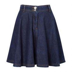 Estilo Jeans, Apostolic Fashion, Chambray, Denim Skirt, Skater Skirt, Fashion Dresses, Mini Skirts, Clothes For Women, My Style