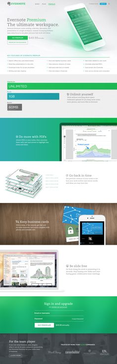 Evernote levels: Landing pages / Travis Mccleery