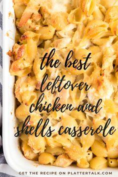 Leftover Chicken Casserole, Cooked Chicken Recipes Leftovers, Recipe Using Leftover Chicken, Recipes Using Rotisserie Chicken, Leftovers Recipes, Grilled Chicken Recipes, Crispy Chicken, Easy Chicken Recipes, Leftover Roast Chicken