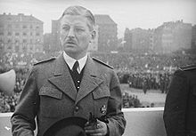 Kurt von Schuschnigg (1897 – 1977) was Chancellor of the First Austrian Republic, following the assassination of his predecessor, Dollfuss, in July 1934, until Nazi Germany's annexing of Austria, (Anschluss), in March 1938. He was opposed to Hitler's ambitions to absorb Austria into the Third Reich. After his efforts to keep Austria independent had failed he resigned his office -- eventually interned in various concentration camps.