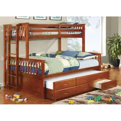 Found it at Wayfair - Emmerson Twin over Queen Bunk Bed