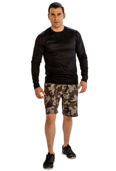 Alanic Clothing: The Leading Global Clothing Manufacturer: Grab Men's Full Sleeve Black Tee from Alanic for a 'Wow-Worthy' Look Running Shorts Outfit, Camo Shorts, Cheap Boutique Clothing, Clothing Company, Tee Online, Shirts Online, Gym Wear, Long Sleeve Tees, Sleeves