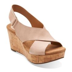 Caslynn Shae Light Tan Nubuck - Womens Wide Width Shoes - Clarks