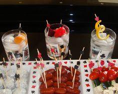 Casino night party, game night parties, las vegas party, casino theme p Party Food Themes, Casino Party Foods, Casino Theme Parties, Party Ideas, James Bond Party, Game Night Parties, Las Vegas Party, Vegas Casino, Casino Royale Theme
