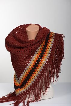 Crochet big scarf and shawl. Bohemian crochet by scarfstore2012