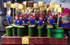 Vroeger was het nog een stuk simpeler om te trakteren. Maar tegenwoordig kan het zo maar gebeuren dat een kind naar huis wordt gestuurd met de traktaties. Veel scholen accepteren geen zoete traktaties meer en kiezen ervoor nog exclusief alleen hartige/gezondere dingen te accepteren. Dit kan soms even lastig zijn voor ouders maar gelukkig zijn … Super Mario Birthday, Mario Birthday Party, Super Mario Party, Birthday Treats, Party Treats, Party Snacks, Childrens Meals, School Treats, Diy Cake